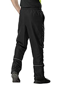 MIERSPORTS Men's Sports Pants Warm-Up Pants with Zipper Pockets for Workout, Gym, Running, Training, Black by MIERSPORTS