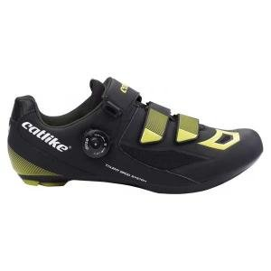 Zapatillas Carretera Catlike Talent Negro-Amarillo - Talla: 43