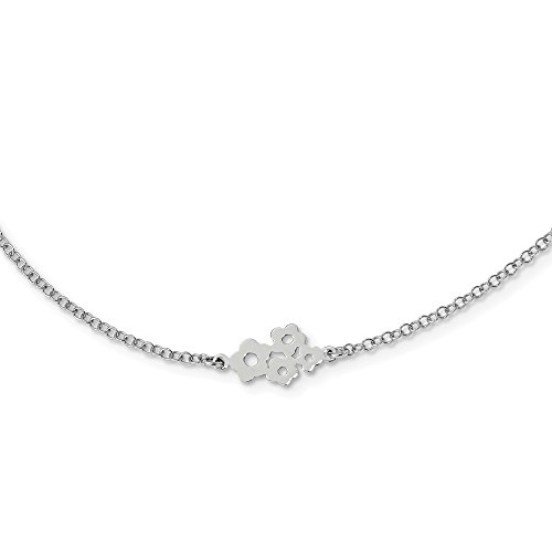 925 Sterling Silver 6 Station Flower Chain Necklace Pendant Charm Fancy Bead Fine Jewelry Gifts For Women For Her (Van Cleef And Arpels Watch)