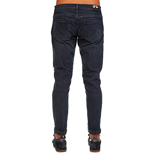 Cotone Up232ds0216t25b800 Nero Uomo Jeans Dondup wqtHYY