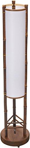 Oriental Furniture , Muebles y Decoración al Estilo Asiático; Lámpara de Pie de Bambú Japonés con Pantalla de Papel de Arroz