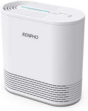 RENPHO Air Purifier with True HEPA Filter, Air Purifier for Allergies and Pets, Compact Air Purifier for Bedroom Home, Eliminate 99.97% Odors Smokers Mold Pollen Dust for Kids Room