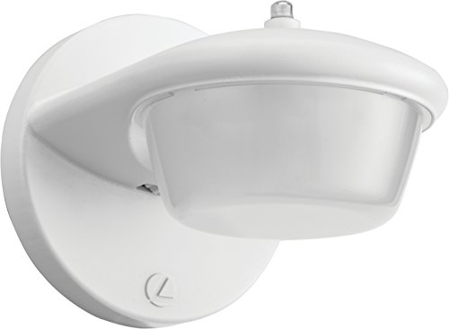 Lithonia Lighting OVSC P1 40K 120 PE WH HP17 M6 1-Light 3.2W Outdoor LED Wall Mount Sconce with Dusk to Dawn Photocell in White, Gen 2, 3W
