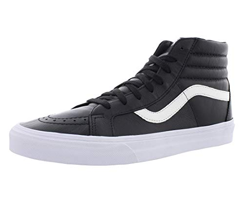 Vans SK8-HI Reissue (Premium Leather) Black Skateboard Shoes-Men 11.0, Women 12.5