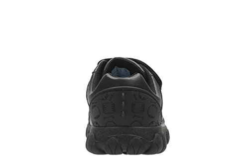 Clarks Tyrex Ride Inf Boys School Shoes 10 F Black Leather
