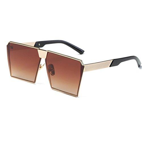 Mujeres VENMO Para Espejo Aviator Rectángulo de sol Hombres B Gafas Moda de Exterior Lente PqSCP