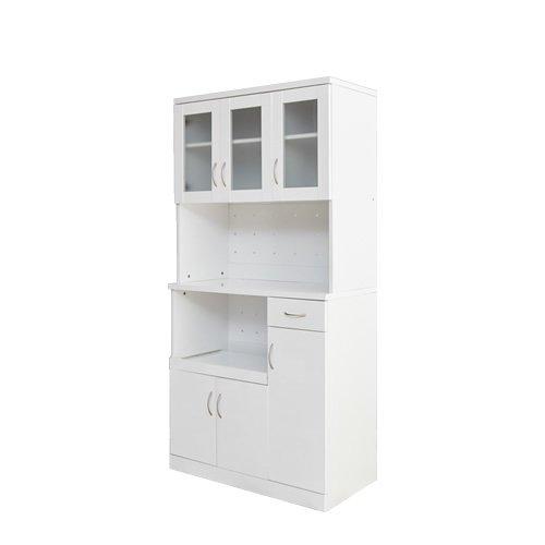ホワイト/180cm×90cmレンジ台 レンジカウンター カウンター レンジボード スライド キッチンボード Oliva/Laurel キッチン収納 食器棚 B007PC0WYU Parent ホワイト