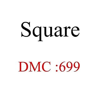 ShineBear DIY Bead DMC square diamond Diamond Embroidery 5D Diamond Painting tool Cross Stitch 3D Diamond Mosaic Decoration beads crafts Color: 605
