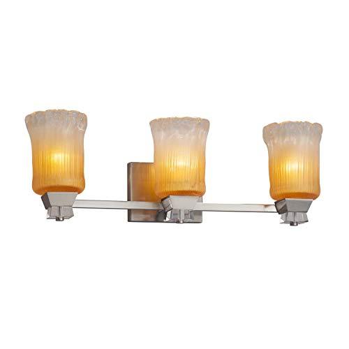 - Justice Design Group Lighting GLA-8473-16-GLDC-NCKL-LED3-2100 Ardent Bath Bar 8.25