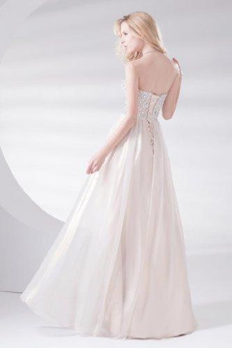 Perle Abendkleid traegerloses Mieder ROSA Schnuerung BRIDE Wunderschoene Perlen GEORGE Yq0OwC