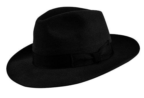 Olney Brompton Pure Fur Felt Fedora Hat (Medium (56-57cm) 002a5ba17db3