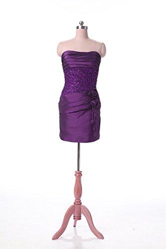 Lila Party Cocktail Kmformals Kleider Damen Der Mini Kurz Brautkleid Mutter
