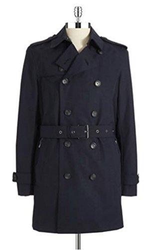 Michael Kors Double Breasted Belted Women's Black Trench Coat Medium, Zippered Pockets. $495 (Michael Michael Kors Double Breasted Trench Coat)