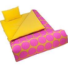 Wildkin Big Dots Hot Pink Sleeping Bag, Outdoor Stuffs