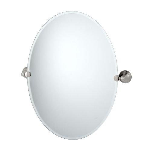 Gatco 4369 Charlotte Oval Wall Mirror, Satin Nickel - Gatco Glass Mirror