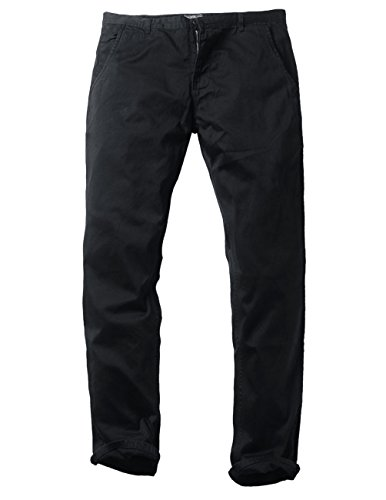 Match Mens Slim-Tapered Flat-Front Casual Pants(8116 Black,32) by Match (Image #2)