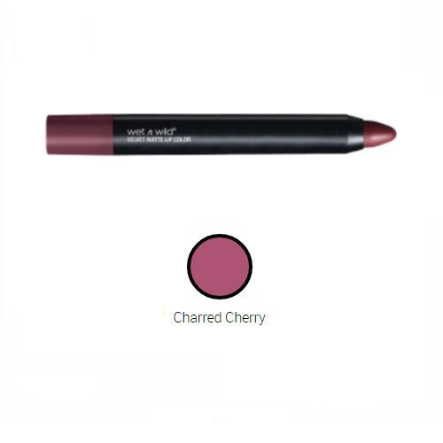 Cherry Color Finish - Wet n Wild Naked Protest Velvet Matte Lip Color A364 Charred Cherry x 3pc
