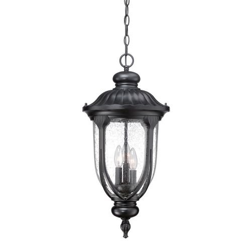 Acclaim 2226BK Laurens Collection 3-Light Outdoor Light Fixture Hanging Lantern, Matte Black by Acclaim