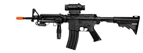 lectric airsoft gun full auto fps-200, loaded w/tactical accessories(Airsoft Gun) ()