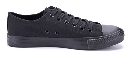 Schuhtempel24 Damen Schuhe Low Sneaker Schwarz Flach