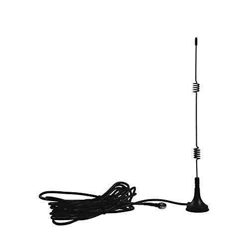 7DBi Magnet Antenna High Gain 4G LTE CPRS GSM 2.4G WCDMA 3G Antenna WiFi Signal Booster Amplifier Modem Directional Adapter Network Reception with SMA Female Connector for Mobile Hotspot Wireless LAN
