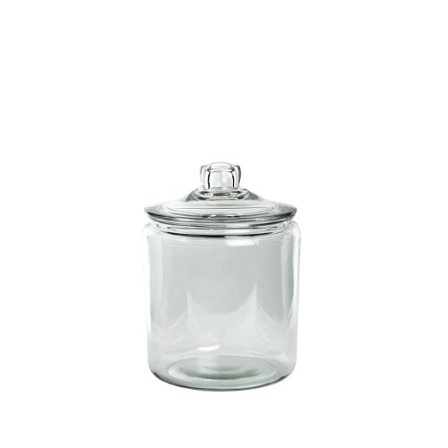 Syndicate Sales 1/2 Gallon Cylinder Terrarium w/ Lid, Clear (Glass Jar Recycled)