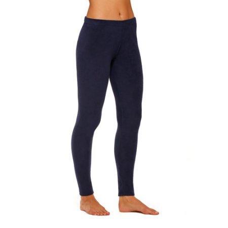 ClimateRight by Cuddl Duds Women's Stretch Fleece Warm Underwear Leggings / Pants (3X, Deep Navy)
