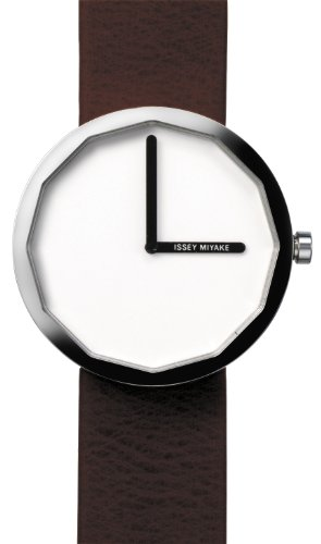 Issey Miyake Unisex Twelve Watch IM-SILAP016 With Black Leather Strap