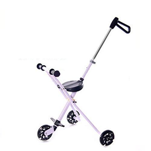 LXZXZ - 3 Wheel Baby Stroller Folding Tricycle 1-3 Years Old Baby Tricycle Slide Baby Artifact (Trike Slide)