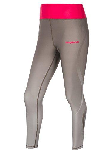 Mujer Gris gris Metal Pantalón Largo Para Aktua Trango qF7Sw4S
