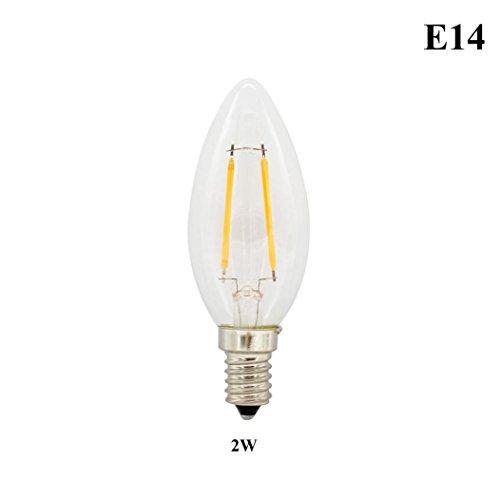 Promotional Insulated Mugs (LED Light Bulb,VIASA E14/E27 Warm White LED Filament Bulb Globe Candle Lights 2-8W Lamp 220V LED Light Bulb Warm White 2700k Daylight Candle Lights LED Incandescent Lamp (White, A))