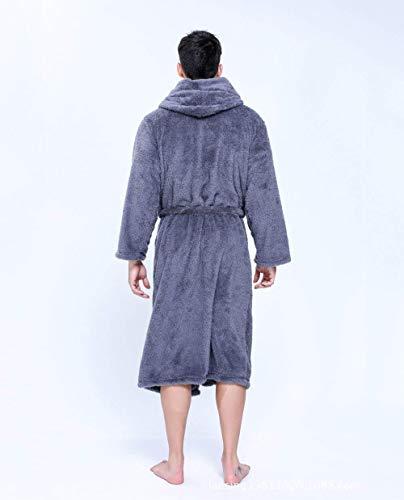 Caliente Color Cinturón Camisones Mujeres Mujer Grueso Sólido Clásico Albornoz Dunkelgrau Terciopelo Outwear Larga Manga Camisas Con Bolsillos Delanteros q1R1Y