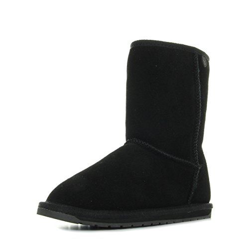 Teens Emu Lo Australia Black Boots Wallaby T10102BLACK ZUqTxg