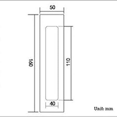 Manija oculta de aleación de aluminio manija de la puerta deslizante integrada manija del cajón del armario manija rectangular negra del granero adecuada for grosor puerta corredera de puerta de mader: Amazon.es: