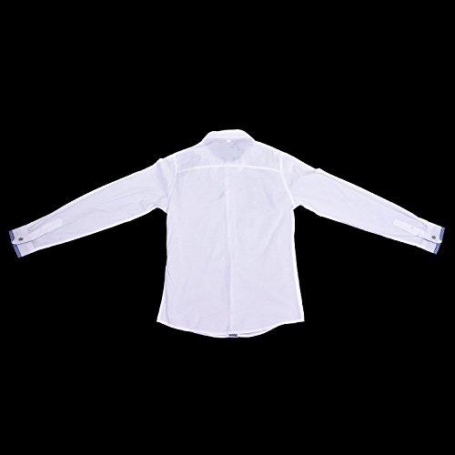 SODIAL(R) Mode Hommes Luxe Manche Longue Casual Mince Fit Tenu Elegante Chemises Blanc XXXL