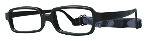 Miraflex New Baby2 Kids Eye Glass Frames, 42/14 Black, Age:5-8