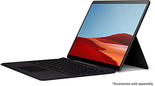Microsoft Surface Pro X (QFM-00005) 2-in-1 Laptop, Microsoft-SQ1-3GHz Processor, 13 Inch, 256GB SSD, 16GB RAM, Microsoft SQ1 Adreno 685 GPU, WiFi+4G LTE, Win10, No KB, Black [Middle East Version]