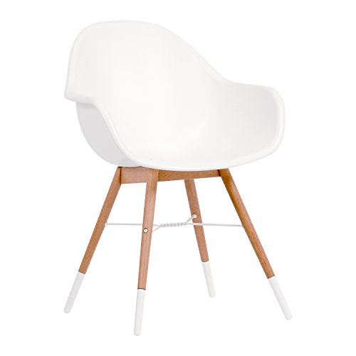 - Amazonia Tropez Deluxe Patio Dining Chairs (Set of 4), Light Legs