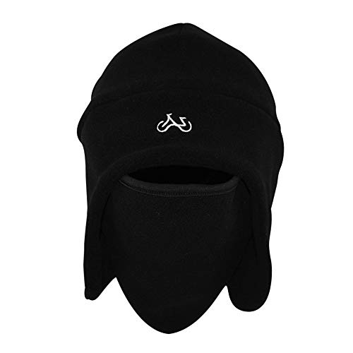 53f71b1793313 SCHOLIEBEN Warmer Tactical Heavyweight Balaclava Outdoor Sports Mask Riding Hat  Cap Black  Amazon.co.uk  Clothing
