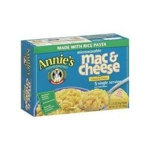 Annie's Homegrown Mac & Cheese, Cheddar, Micro, Gluten-Free 10.7 oz. (Pack of 6) by Annie's Homegrown