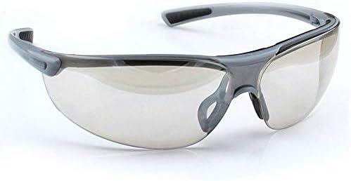 保護メガネ - 安全メガネ防塵メガネアンチショックサンドプルーフ (Color : Gray)