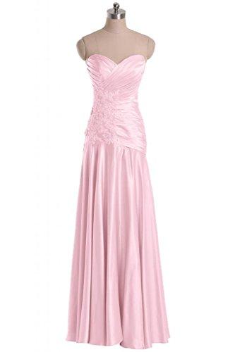 Evening Long Satin Bridesmaid Pink Graceful Length Sweetheart Angel Floor Dresses Bride w0PzXP7