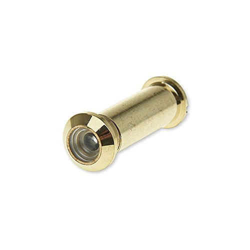 Polished Brass Finish- Solid Brass Door Peephole Viewer 160 Degree #31801 (Brass Sq Series)