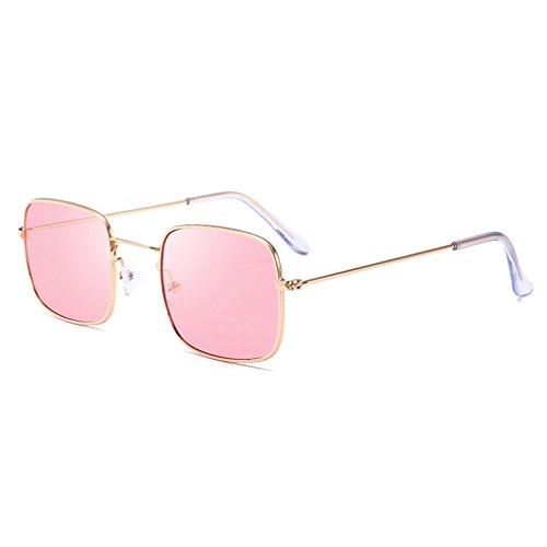 Hukai Men Women Vintage Square Sunglasses Protection Goggles Colored Lens Glasses - Virtual Sunglasses Mirror