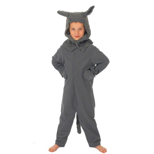 Wolf Costume for Kids. 5-7 Years. Gray