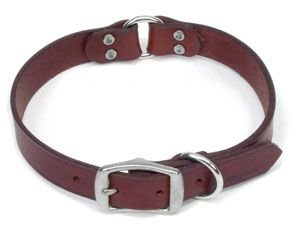 Remington Sporting Dog Center Ring Nylon Safety Collar, Latigo Leather, 24 in. R2158B-LAT24