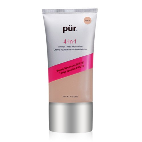 PÜR 4-in-1 Tinted Moisturizer, Broad Spectrum SPF 20 in Medium 1.0 Ounce