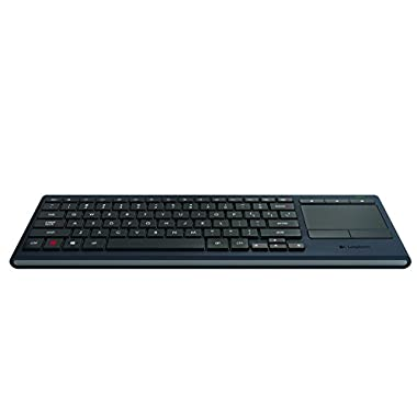 Logitech K830 Illuminated Living-Room Wireless Touchpad Keyboard for Internet-Connected TVs (Bluetooth & Wireless USB Keyboard)