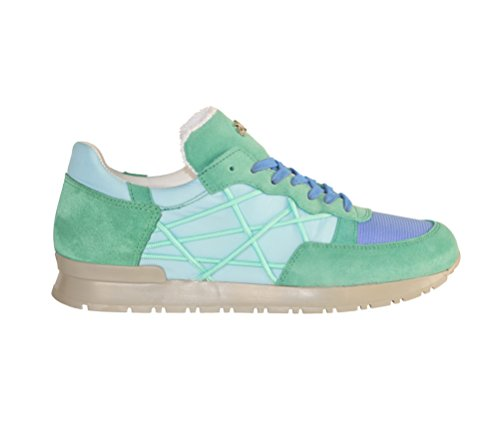 Shoes Sneakers L4K3 LAKE Unisex Mr BIG Cube Nylon Suede Leather Light Azul Teal