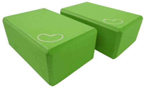 Bean Products Green - 2 Pack - EVA Yoga Block - 3 x 6 x 9 inches